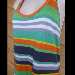 Splendid Dresses - Splendid S Green Tripe Racerback Maxi Hi Low Dress